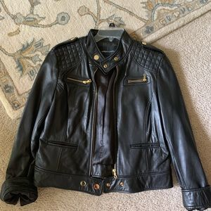 moda international sold out leather jacket